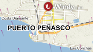 Rocky Point Mexico Weather Map provided by Windy