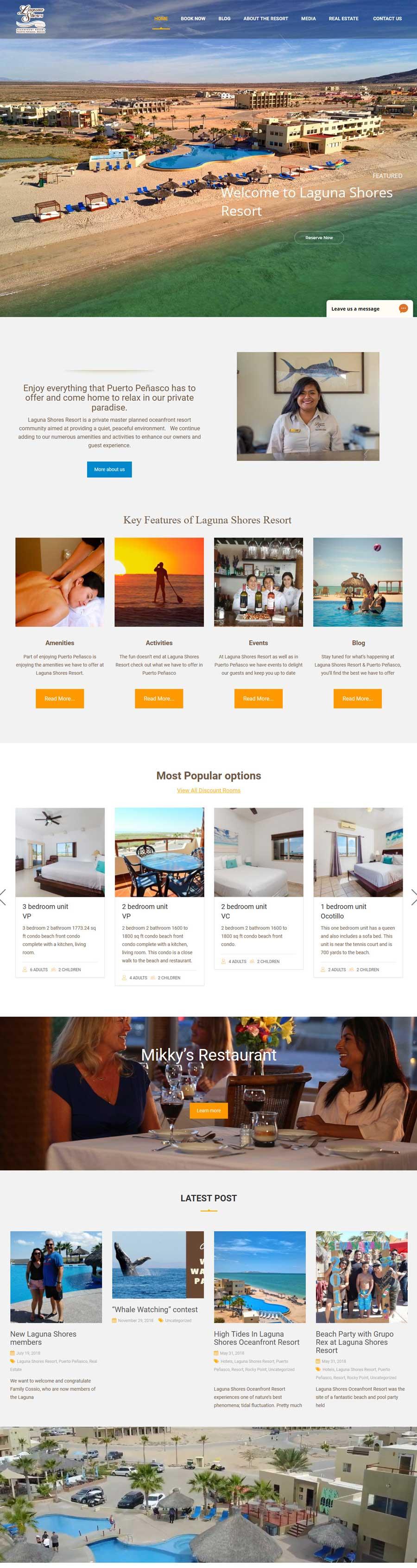 Laguna Shores Resort in Rocky Point (Puerto Penasco). Click here to visit Laguna Shores Resort's website