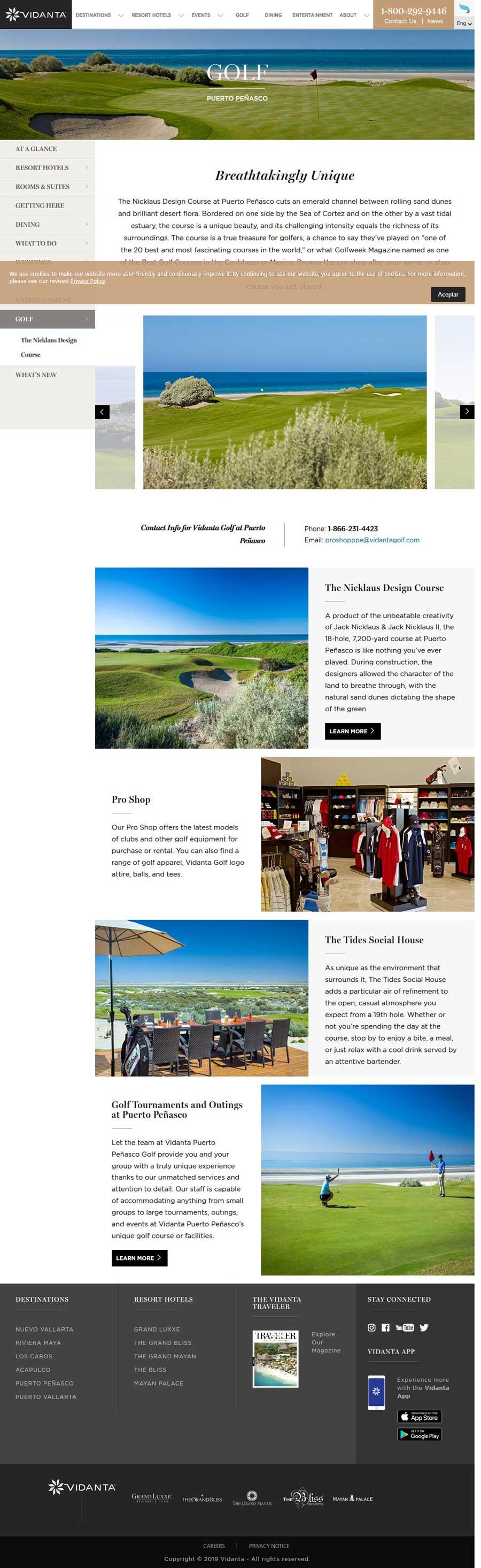 Vidanta Golf in Rocky Point Mexico (Puerto Penasco). Click here to visit Vidanta's Golf website.