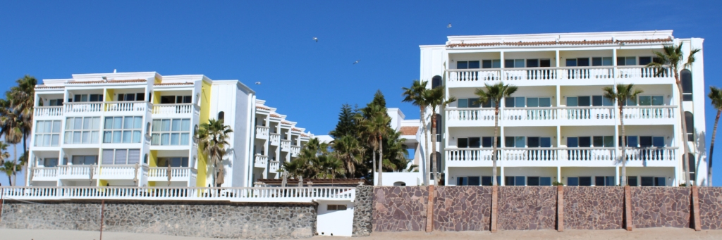 Playa Bonita hotel from the Beach in Rocky Point Mexico (Puerto Penasco).