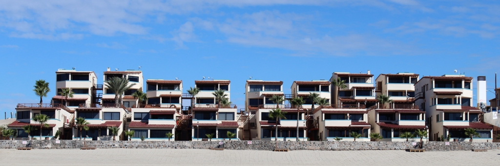 Las Gaviotas Condos from the Beach in Rocky Point Mexico (Puerto Penasco).