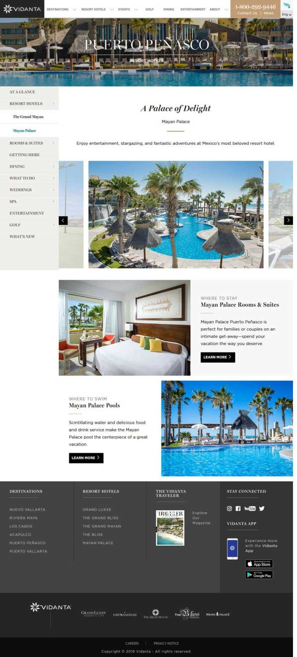 Vidanta's Mayan Palace Resort in Rocky Point Mexico (Puerto Penasco). Click here to visit Vidanta's Mayan Palace Resort website