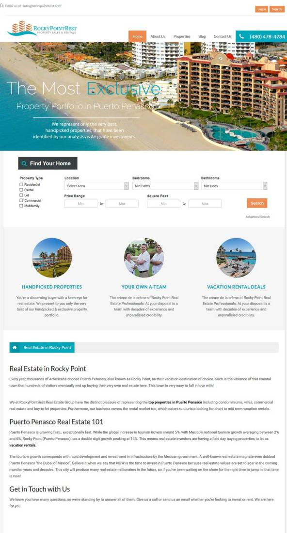Rocky Point Best Real Estate in Rocky Point (Puerto Penasco). Click here to visit Rocky Point Best's website.