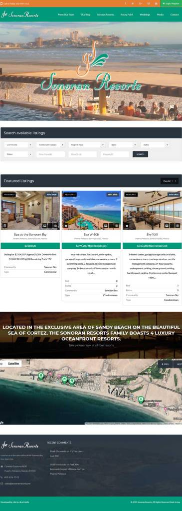 Sonoran Resorts Real Estate for Rocky Point Mexico (Puerto Penasco). Click here to visit the Sonoran Resorts website.